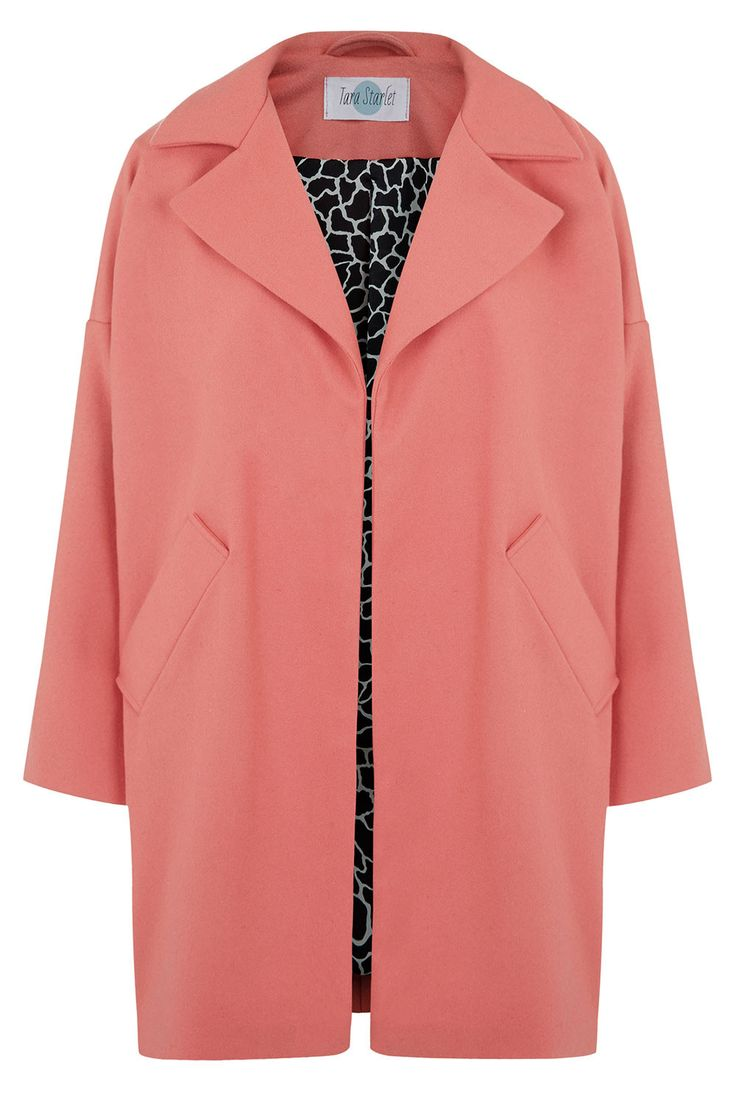 BLACK FRIDAY SALE: The Cocoon Coat - Coral Pink