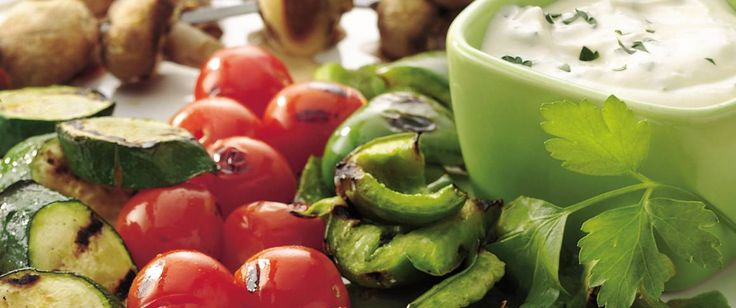 Grilling adds great outdoor flavor to fresh veggies. Pick and dip away!