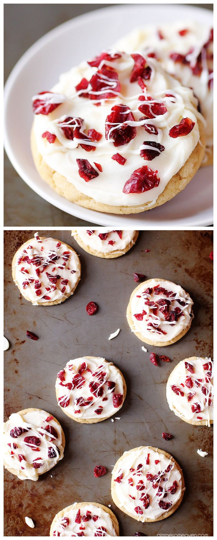 Cranberry Bliss Cookies -- inspired by the popular treat from Starbucks, and SO tasty! | gimmesomeoven.com #cookies #dessert