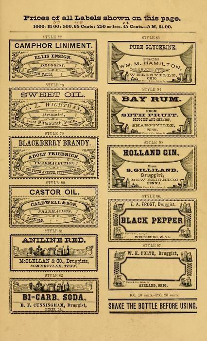 free printable old bottle labels .