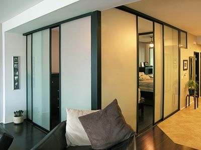 Sliding door room dividers can create an extra room in your home using space you already have.