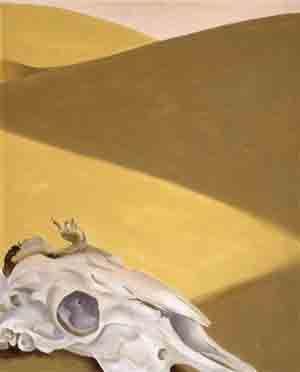 "Georgia O'Keeffe, Goat's Head"" (1957) (Courtesy McNay Art Museum)"