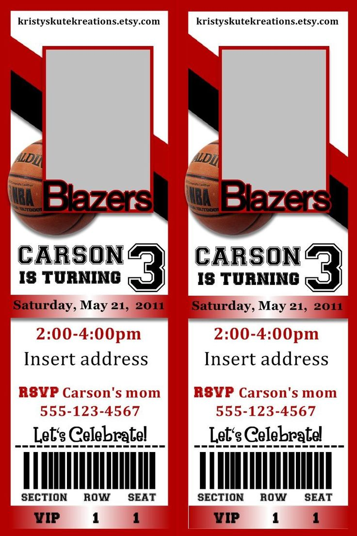 basketball ticket invitation template