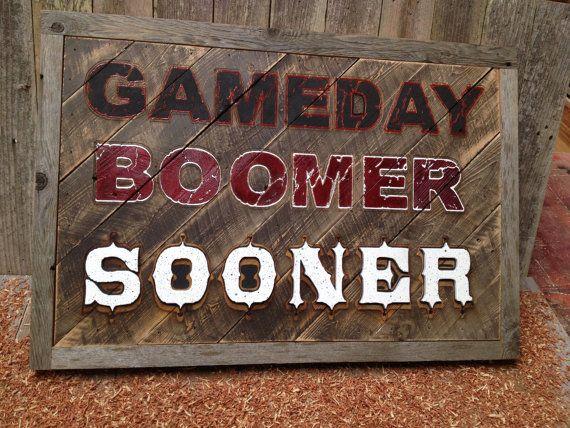 Gameday Boomer Sooner 32.5 x 22.25 approx. Item by LaserZStudio, $145.00