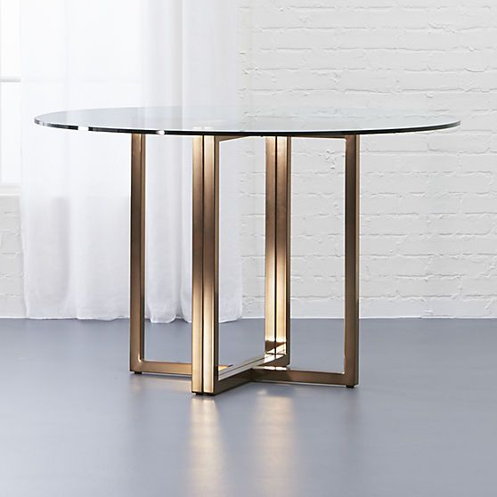 Silverado brass 47 round dining table for Fenster 80 x 90