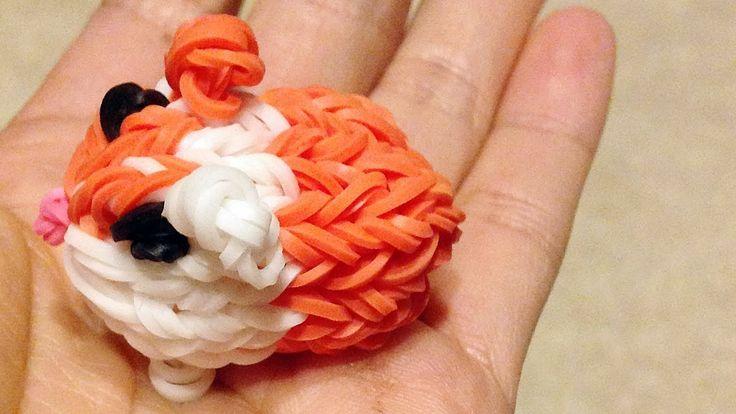 Rainbow Loom Charms: Guinea Pig / Hamster (DIY Mommy, Fun Loom + Crazy L...