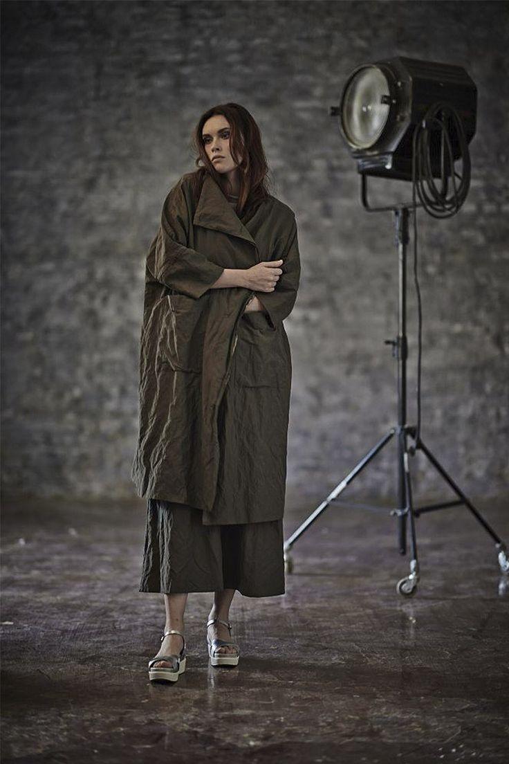 Купить ПЛАЩ ЖАТКА подкладка от Lesel (Лесель) российский дизайнер одежды