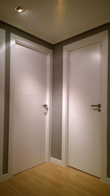 Puerta Lacada. Mod 9005 de Puertas SanRafael. Instalado por Exposición Puertas Actur