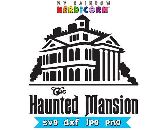 Haunted Mansion logo Disney Halloween svg by