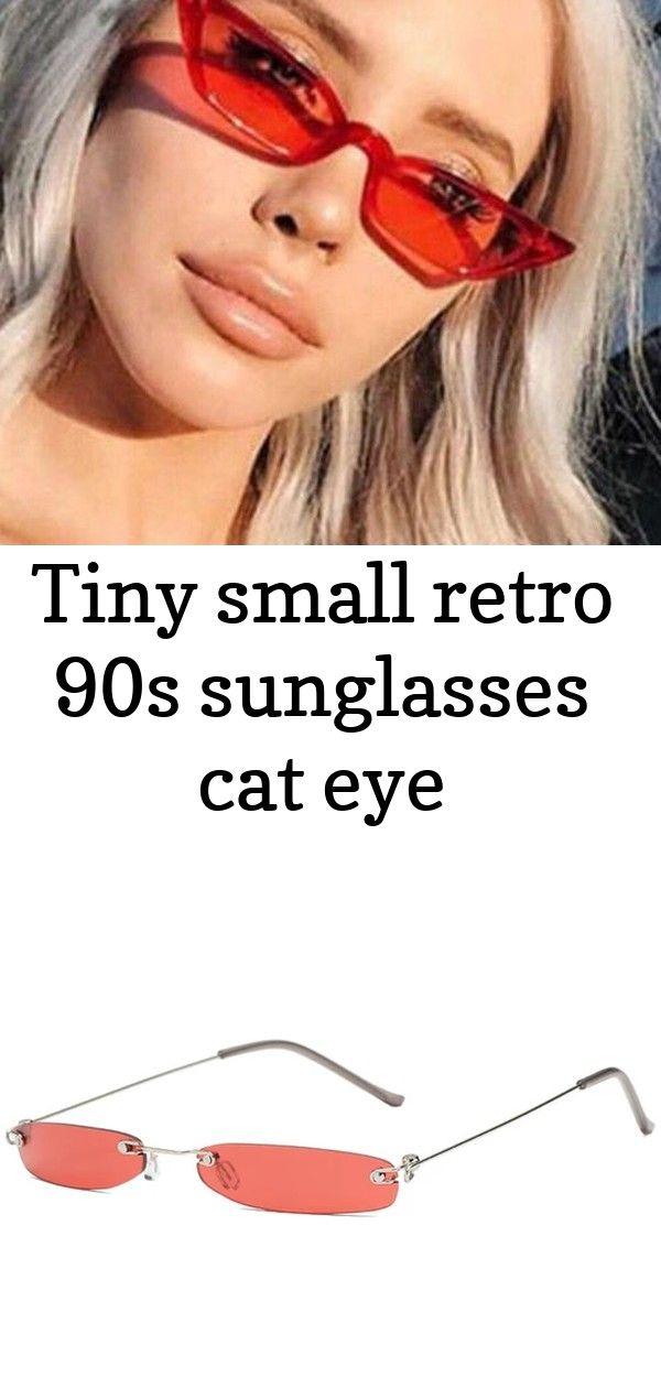 Tiny Small Retro 90s Sunglasses Cat Eye Cat Eye Sunglasses Summer Fashion Outfits Casual Sunglasses