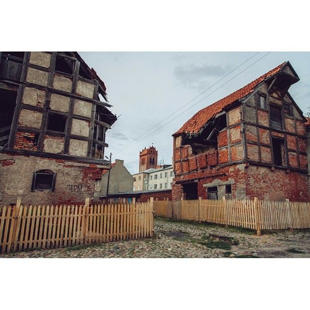 Street in Zheleznodorozhny (former Gerdauen ) in Kaliningrad obl. of Russia. Photo by Dmitri Korobtsov.