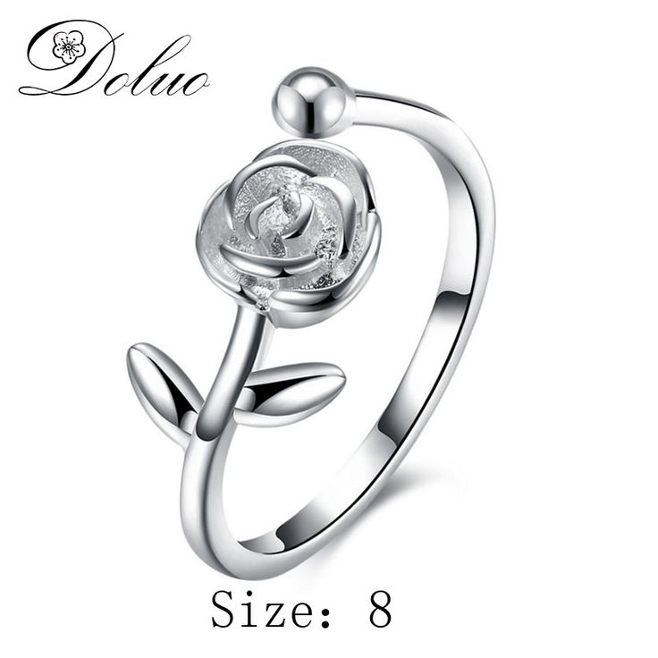 Cheap silver ring jewelry, Buy Quality ring jewelry directly from China 925 sterling silver ring Suppliers: European and American creative roses open tail ring 925 sterling silver ring jewelry