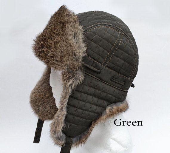 By Order Fur Ear Flap Hat Men Real Fur Hat Trapper Hat Aviator Hat Ushanka Russian Hat Ski Hat Rabbit Fur Fur Hat Ear Flap Gift Men Ear Flap Hats Real