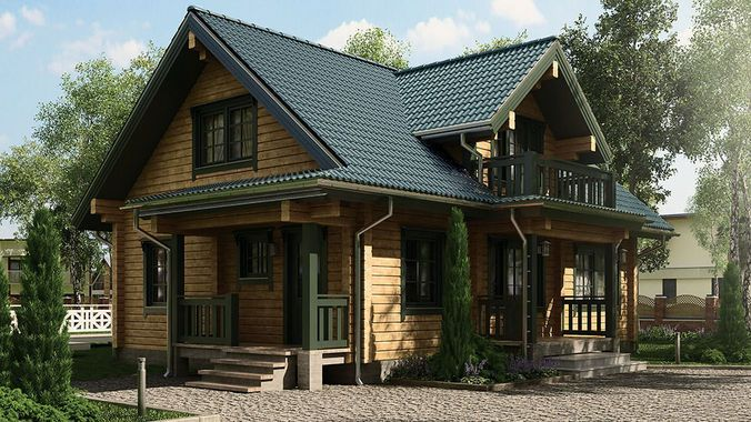 Classic Private Log House 195m