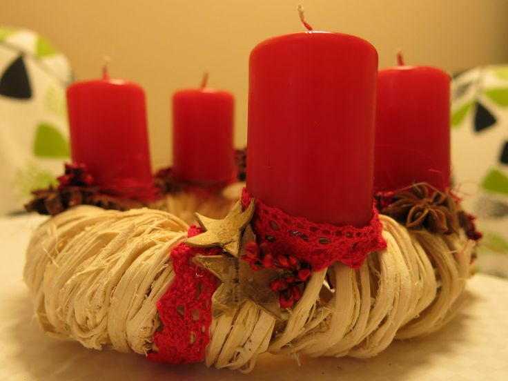 red candle advent wreath