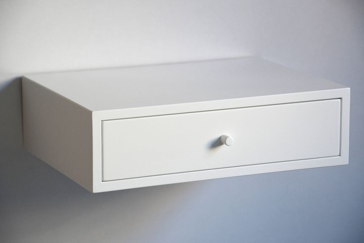 White floating nightstand with drawer   standard size   single or double by MyBetterShelf on Etsy https://www.etsy.com/listing/563177482/white-floating-nightstand-with-drawer