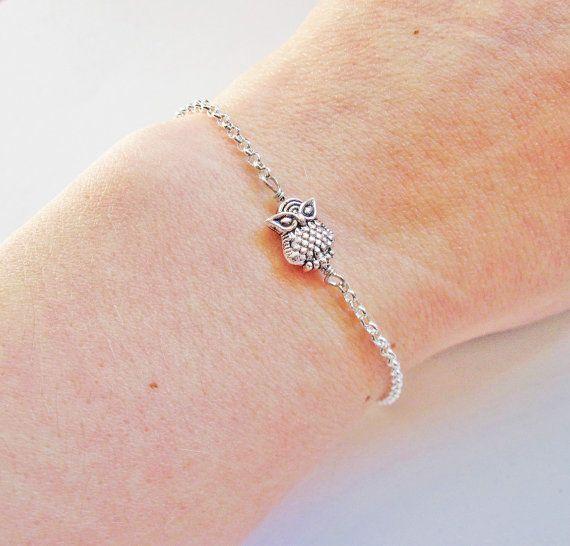 Owl+Bracelet+Sterling+Owl+bracelet+Owl+Jewelry+by+RobertaValle,+$19.00