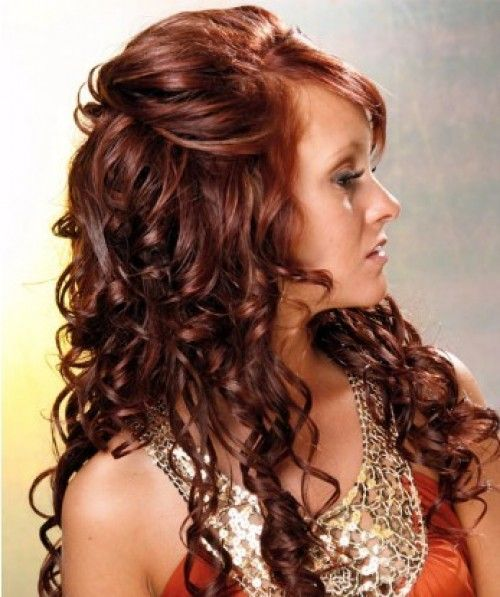 copper Curly Hair | Loose curly hair- 130 Light Copper Red