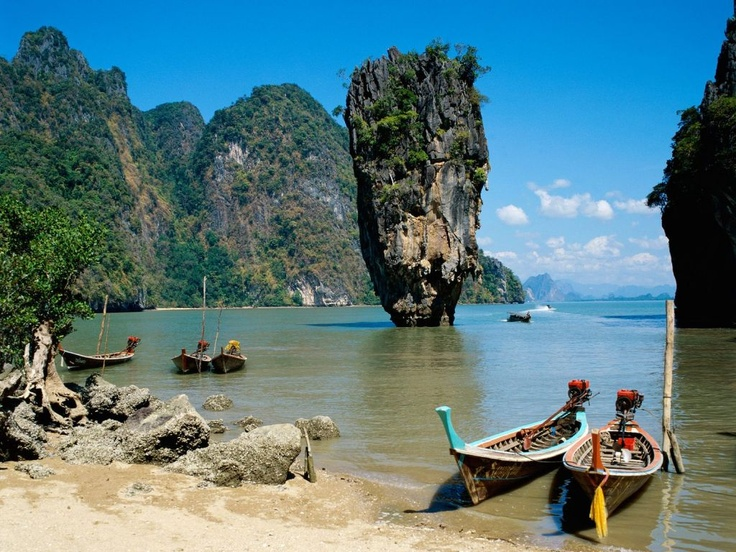 Phang-Nga-Bay, ThailandJames Of Arci, Phang Nga, James Bond, Phuket Thailand, Phuketthailand, Islands, Places, Thailand Travel, Krabi Thailand