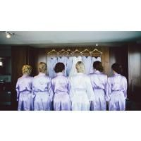 The Wedding Prep Gals want to make your special day as amazing as possible. Some of our Brides were so happy with our bridesmaid and bride robes, they sent us pictures to post. There are many cute pictures you can take with our satin robes, use these brides' pictures as an inspiration. We hope to be a part of your wedding day!