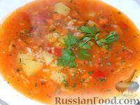 Фото к рецепту: Томатный суп с рисом