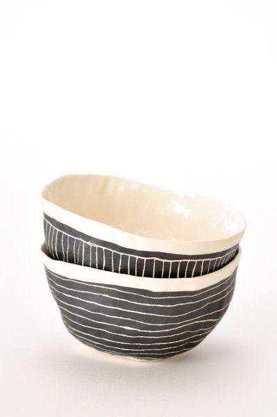 Black Etched Bowl