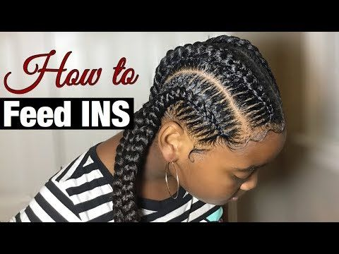 How To Stitch Feed In Braids Tutorial Slowed Down Youtube