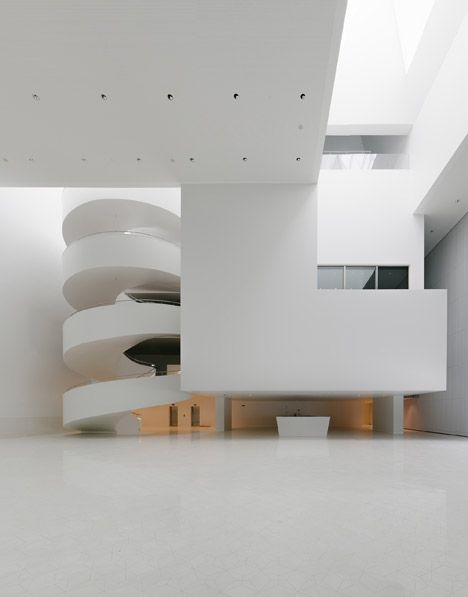 Interior shot of a concert hall in Polandf by Barozzi Veiga.