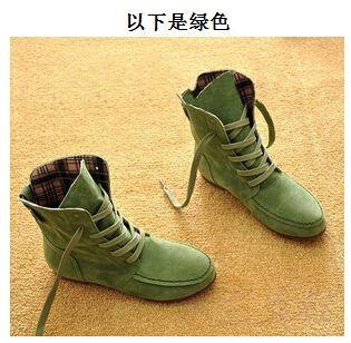 Alibaba Group | 2014 yeni Boyutu 34 44 Sıcak Satış Kadınlar Bilek Motosiklet Boots Süet Deri Lace Up Martin Boots Kadının İlkbahar Sonbahar Flats Aliexpress.com üzerine Shoes Boots Ayakkabı-in60