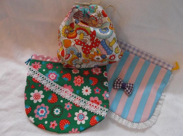 ☆丸型巾着袋*3種類☆
