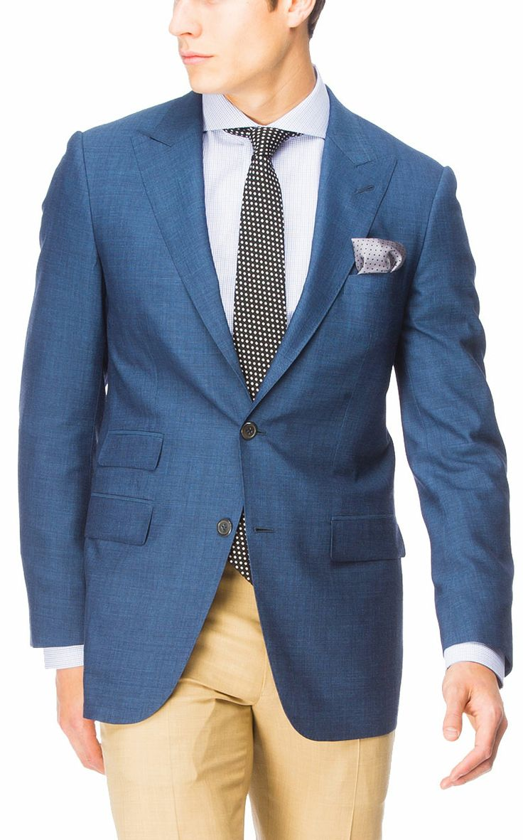 beige blazer and navy blue pants. Coloured separates, our pick for a navy blazer and blue jean pairing. Free Shipping on Qualified Orders. Kaki sports blazer brown pocket square brown belt dark jeans or navy pants blue gingham shirt Beige Blazer and.