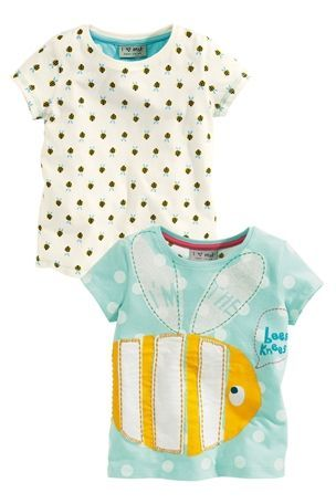 Buy Bee Appliqué And All-Over Print Tops Two Pack (3mths-6yrs) from the Next UK online shop