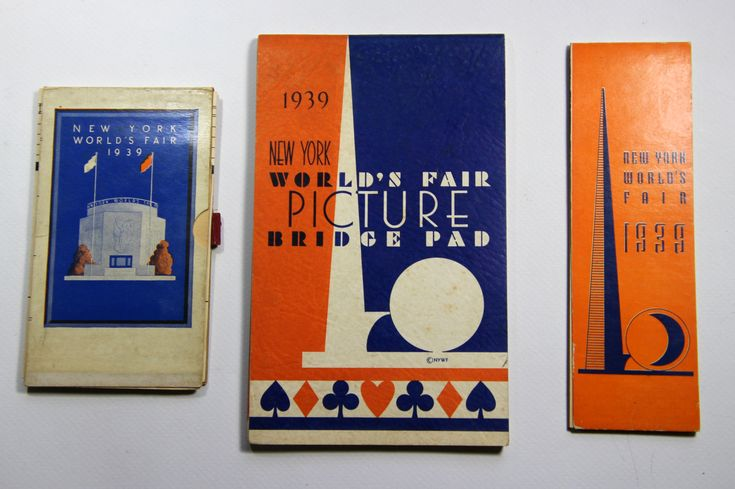 1939 New York World's Fair bridge score pads