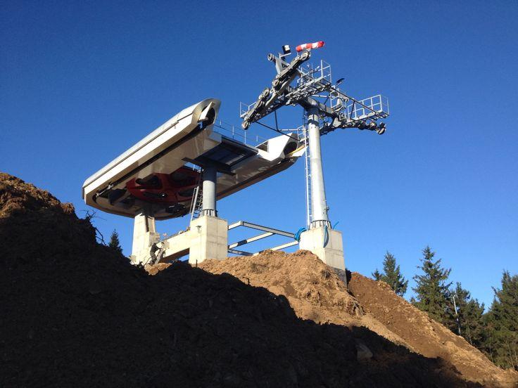 Zieleniec budowa kolei Skyway Express