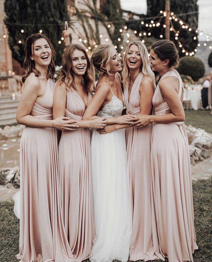 Love The Idea Of Blush Colored Bridesmaid Dresses Blush Pink Bridesmaid Dresses Blush Bridesmaid Dresses Pink Bridesmaid Dresses