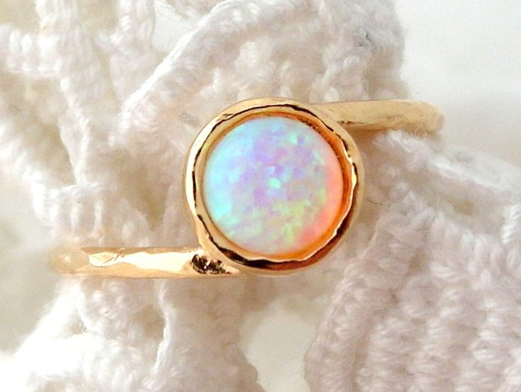 SALE White Opal ring, Gemstone ring, Gold ring, stacking ring, Gold ring, Opal ring, white stone ring, October birthstone ring, dainty ring by EldorTinaJewelry on Etsy https://www.etsy.com/listing/190747517/sale-white-opal-ring-gemstone-ring-gold
