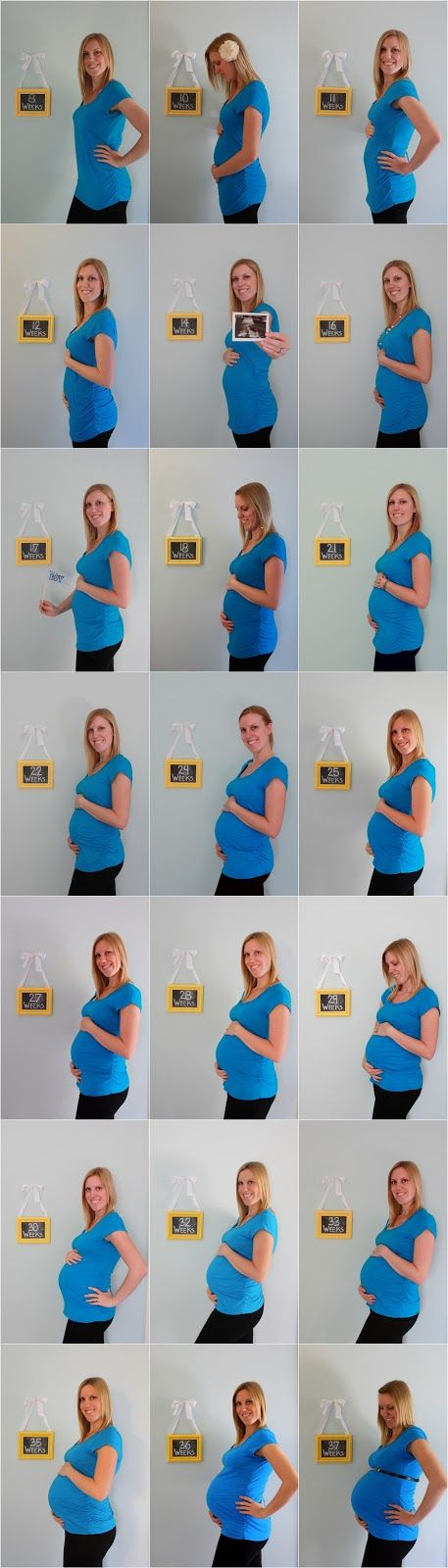 Love Life and My Journey -- cute bump progression photos