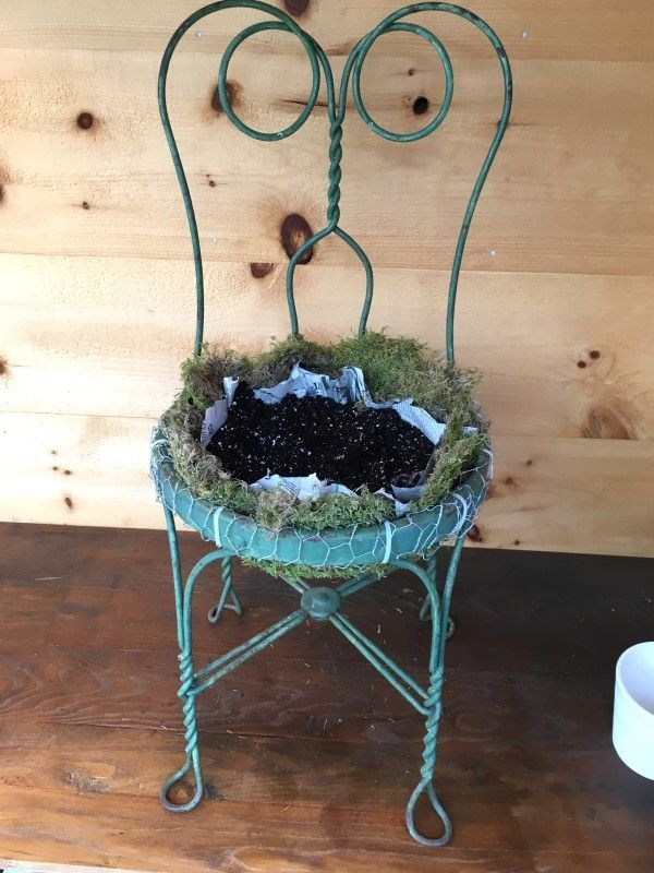 Set a Place in the Garden for a Succulent Chair Planter – Chair Decorations