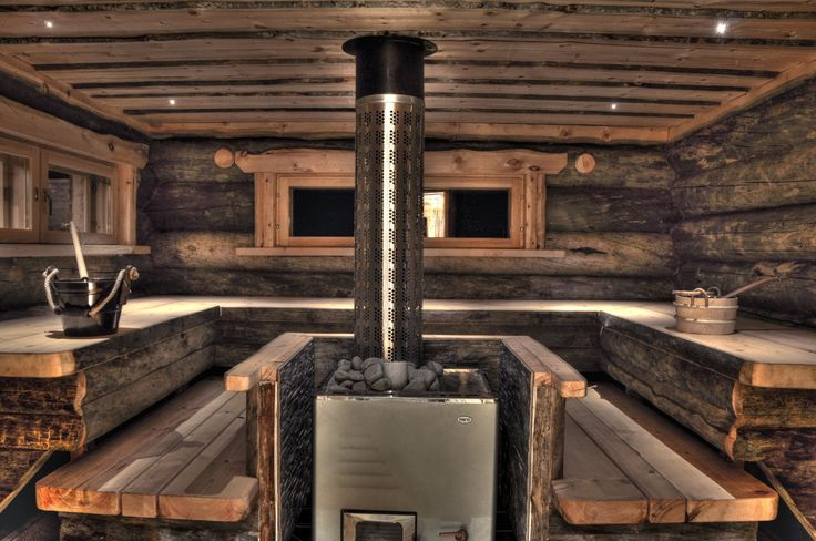 Sauna, love this sauna. So rustic and cozy