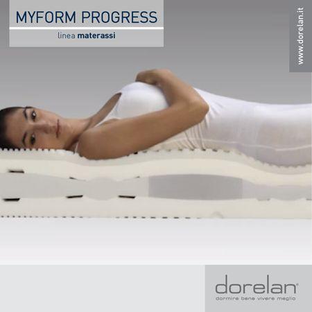 Per regalarti il massimo dell'ergonomia, tutti i #materassi della linea #Myform Progress offrono un sostegno differenziato ad ogni parte del corpo, rispettandone l'anatomia e consentendo alla colonna vertebrale di mantenere sempre la sua naturale curvatura.  #Dorelan #dormirebene