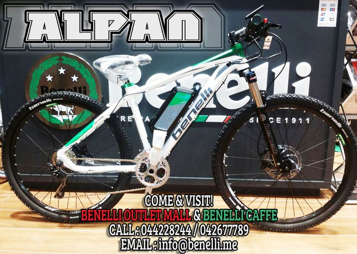 "Absolute enjoyment on off-road with maximum stability and safety. Alpan is the 27,5"" wheels mtb of Benelli without compromises. The bike of the future, able to meet the tastes of many fans of hardtrail, because it's very easy to drive and to control also on the roughness of the road surface. COME & VISIT BENELLI OUTLET MALL for more BENELLI Motor Apparels and Merchandise. You can also visit BENELLI CAFFE while having some foods and drinks with it's cosiness concept! For more information Call…"