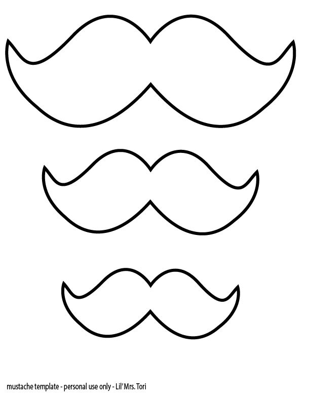 mustache template - Mustache Coloring Pages