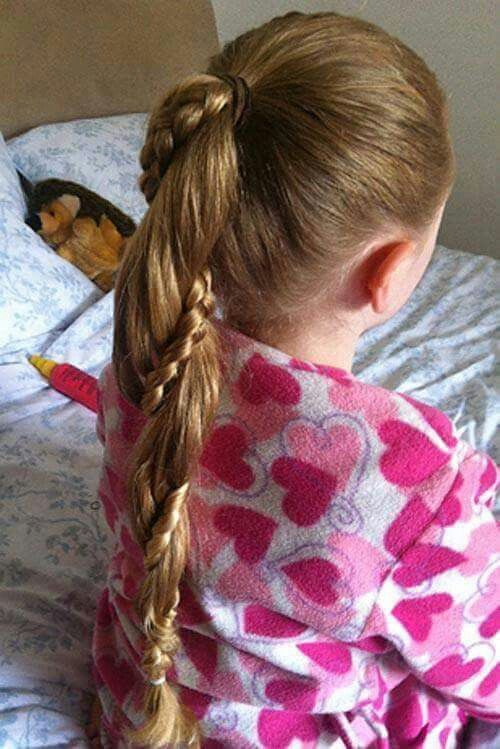 A braid twisted in a pony tail. Not a bad idea