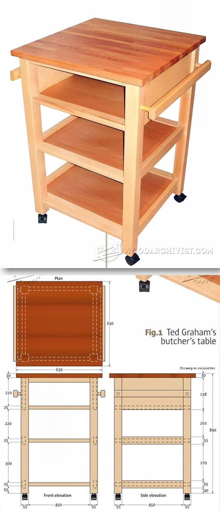 Butchers Block Table Plan Furniture Plans And Projects