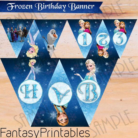 Frozen Birthday Banner Printable Frozen Banner Party By: 17 Best Ideas About Frozen Banner On Pinterest