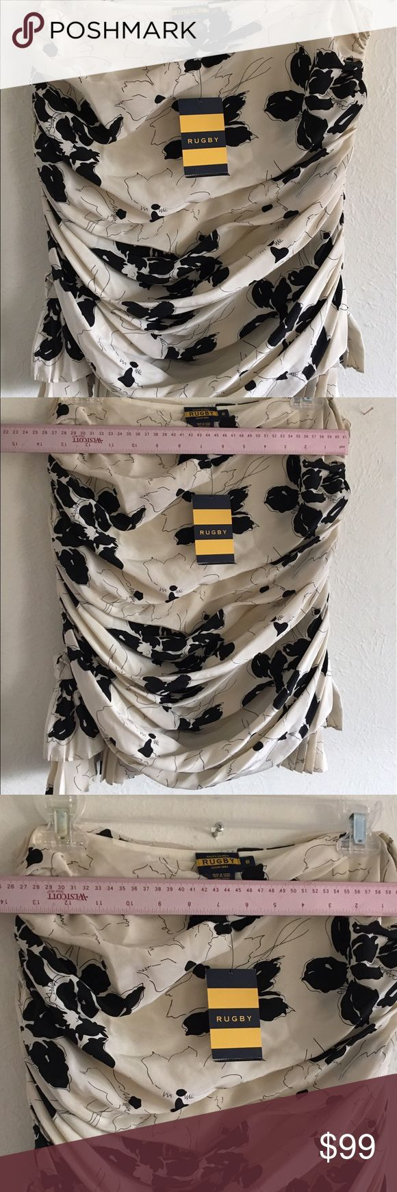 NWT Ralph Lauren top skirt ruffles Gorgeous silk! Can be worn as strapless top or skirt ... solid ruffles gorgeous ! Rugby a Ralph Lauren's expensive and discontinued brand and my favorite ! Size 6 Ralph Lauren Skirts
