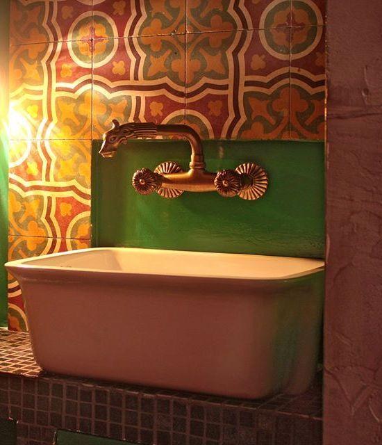 Λεπτομέρεια wc με oriental επιρροές