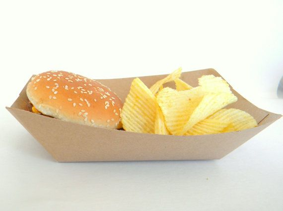 24 Large Kraft Brown 2lbs. Food Trays Snack by CMWrapNShipSupply