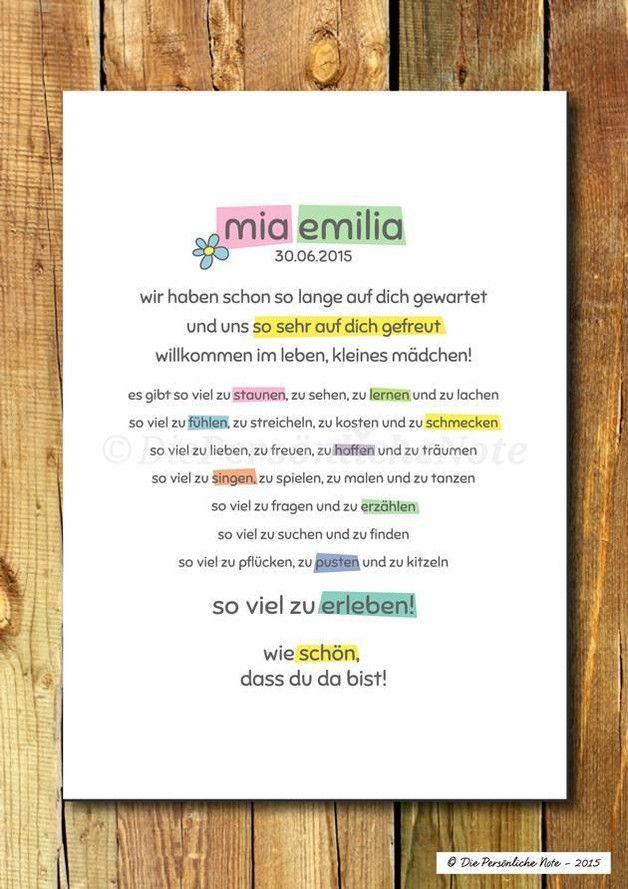 Gastgeschenke – Druck/Print: Süße Geschenkidee zur Geburt/Taufe – ein Designer…