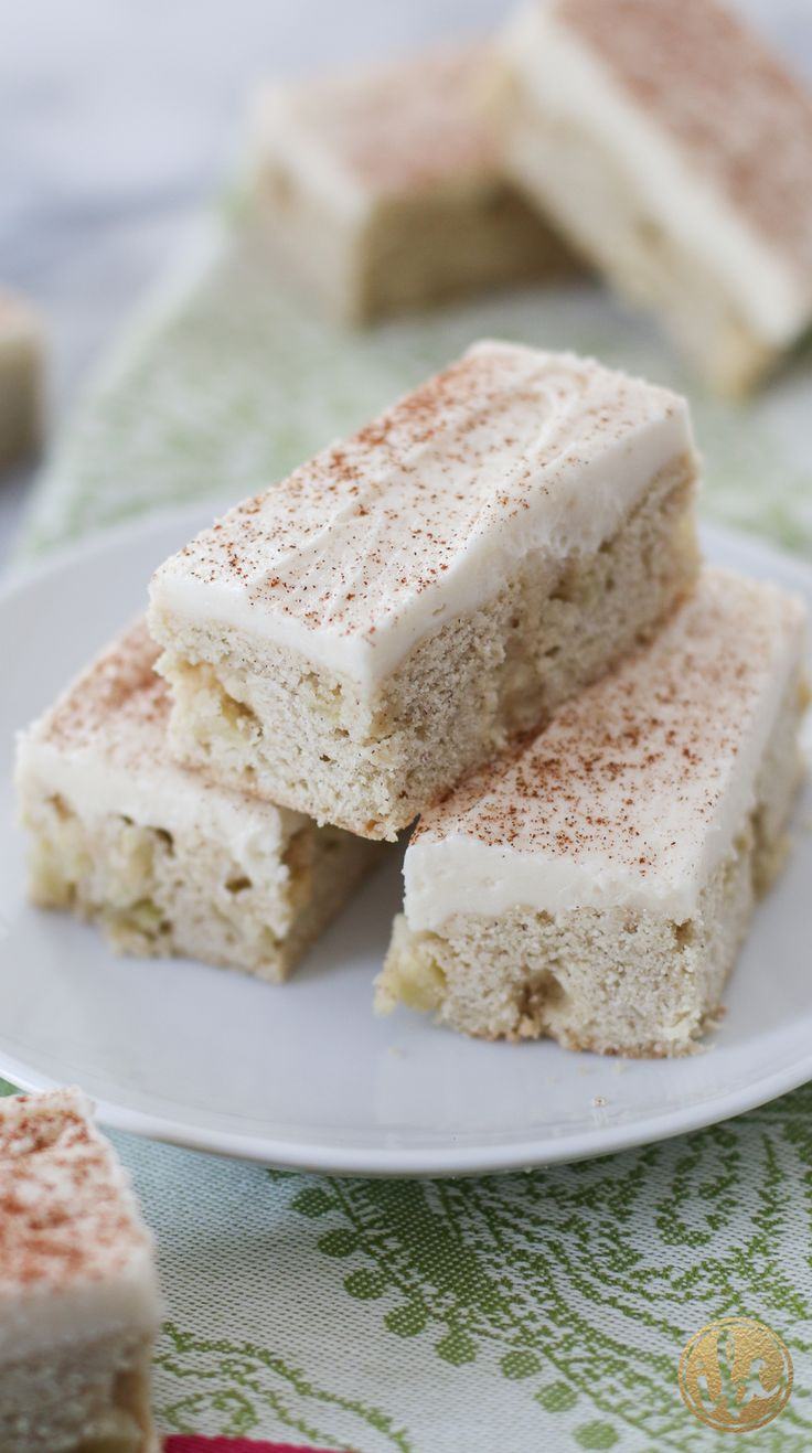 Apple Cinnamon Cookie Bars with Apple Cider Buttercream ...